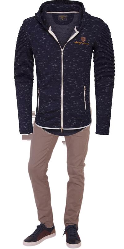 Een heerlijk warm getailleerd vest, een mooie chino en nette sneakers van Antony Morato. De perfecte herfst outfit.