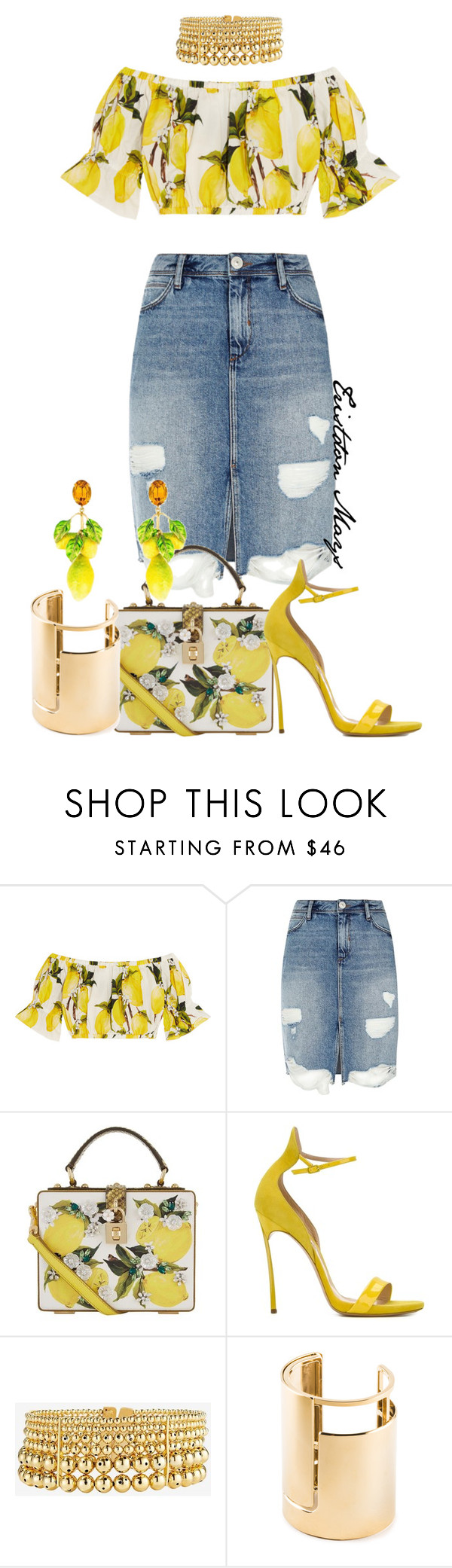 """Lemonade Is Popular Drink."" by monroestyles ❤ liked on Polyvore featuring Dolce&Gabbana, River Island, Casadei, Paula Mendoza, Lanvin, Beyonce and lemonade"