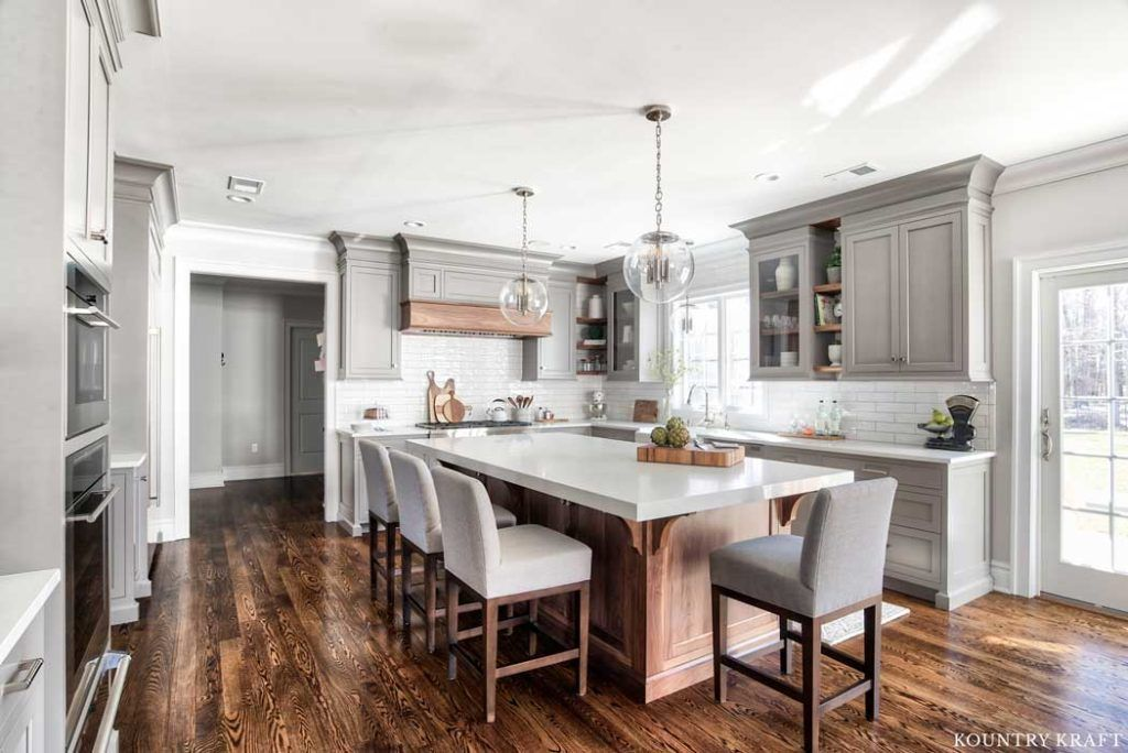 Custom Gray Kitchen Cabinets in Florham Park, New Jersey