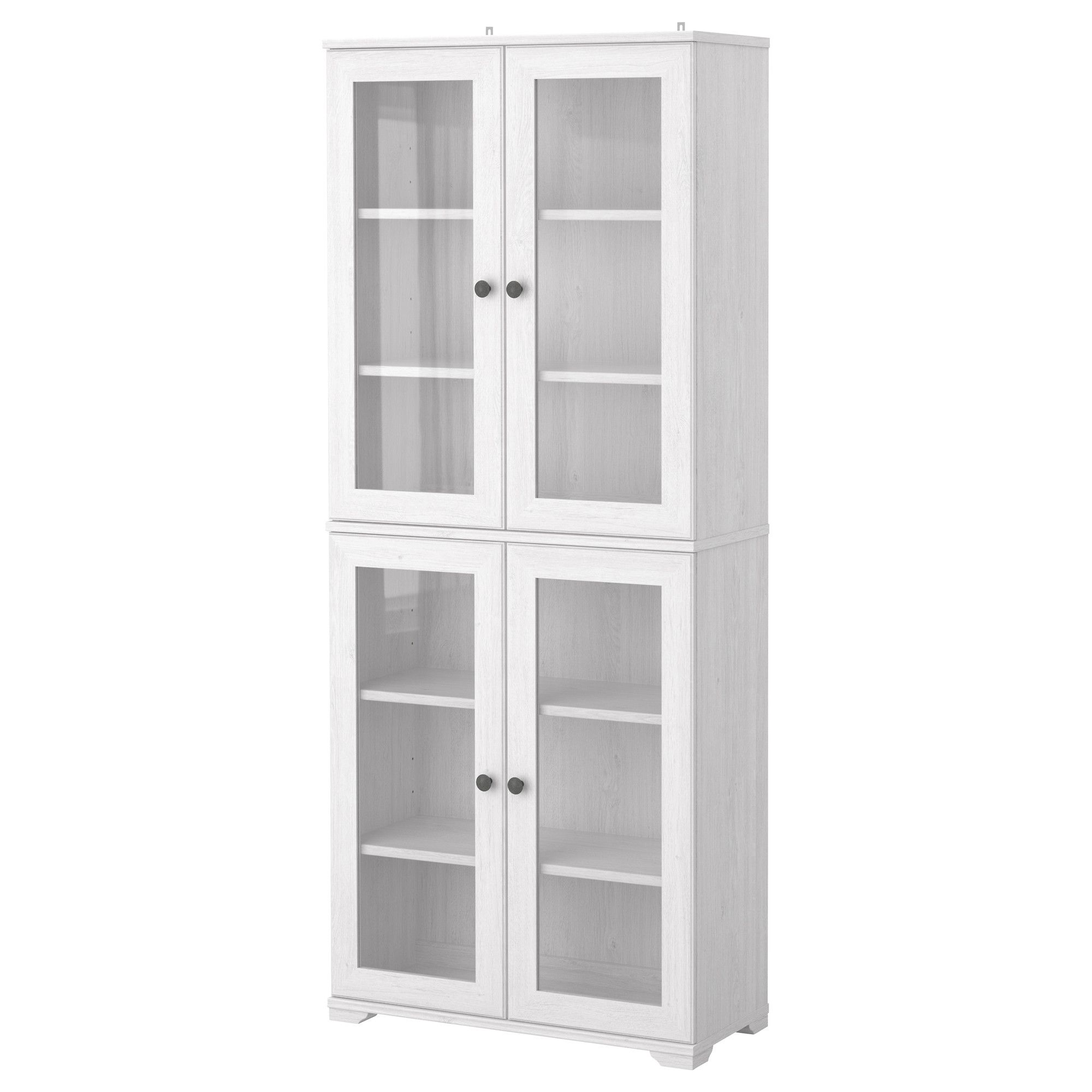 BORGSJ  Glass door cabinet white IKEA Part of living room TV wall storage 135 as pictured need
