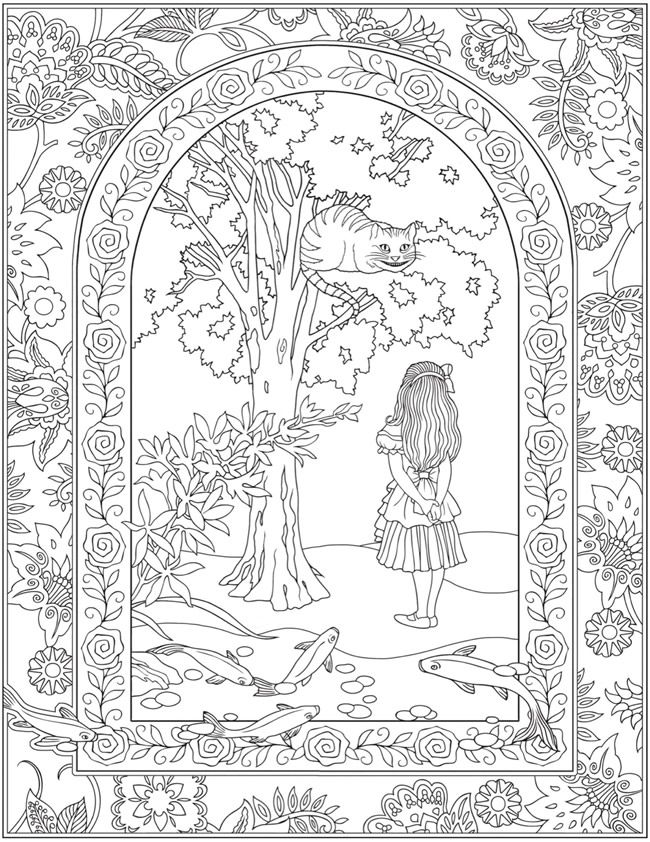 Welcome to Dover Publications - CH Alice in Wonderland | Coloring ...
