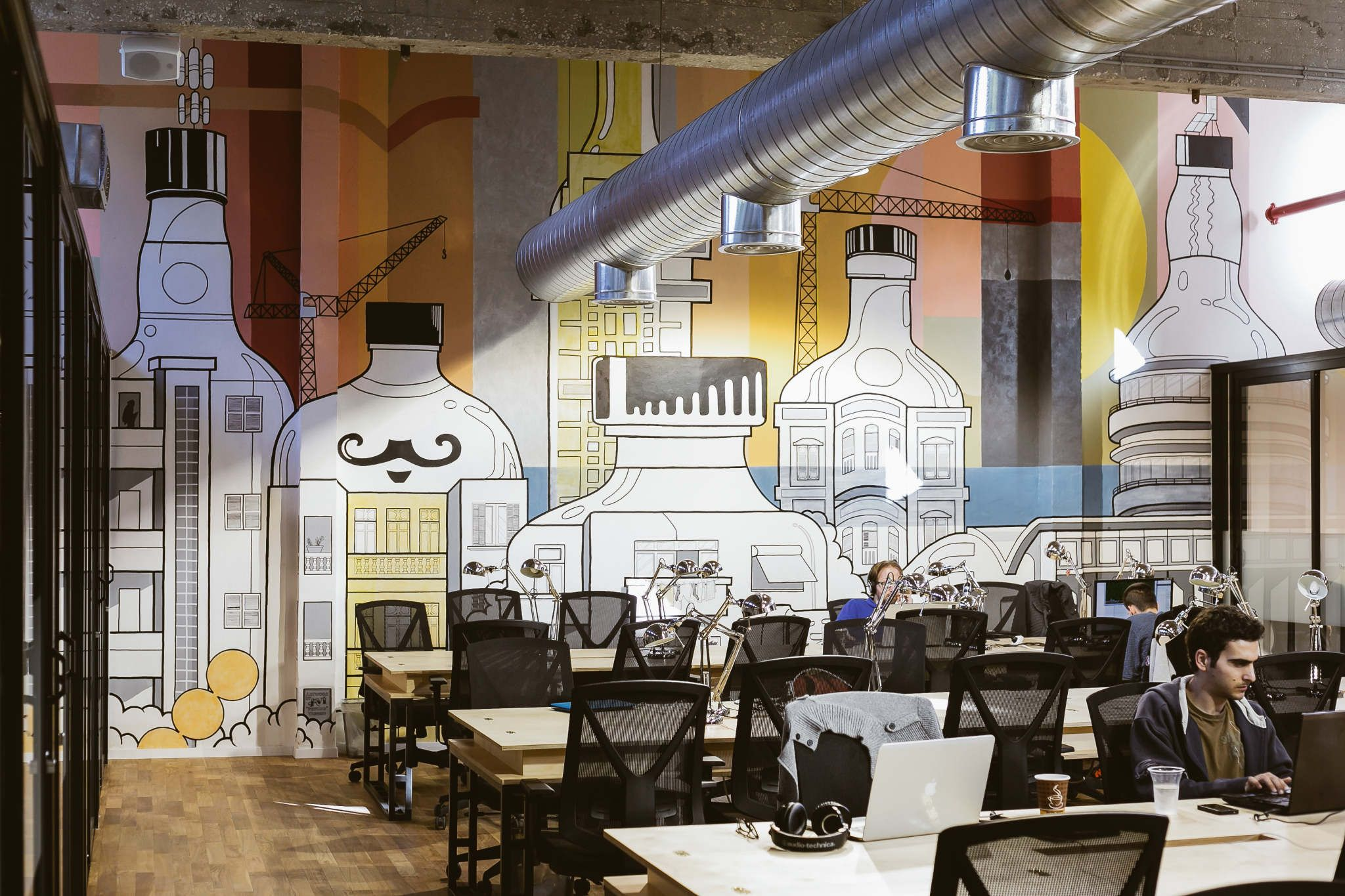 Great Mural On This Wework In Israel Wall Decoration