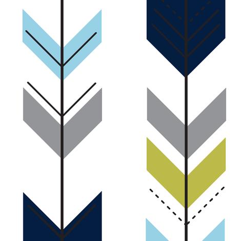 Colorful Fabrics Digitally Printed By Spoonflower Fletching Arrows Navy Olive Grey Blue Arrow Fabric Custom Fabric Fabric