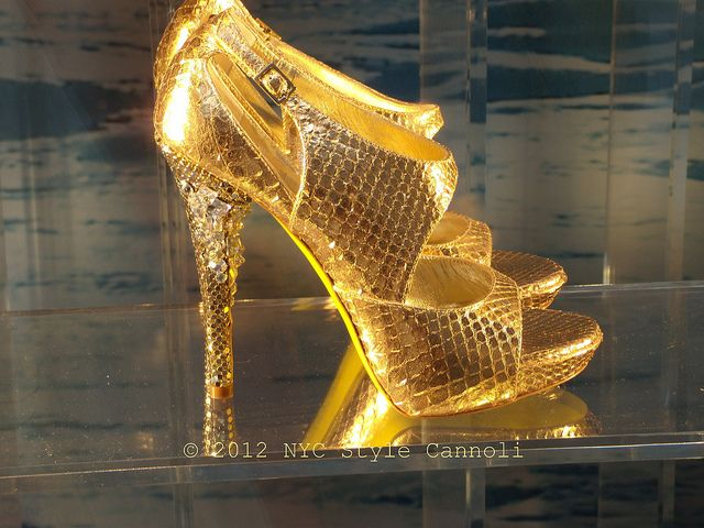 Versace Golden Shoe by NYC Style Little Cannoli, via Flickr