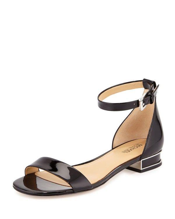 bf25f2ccfaf MICHAEL Michael Kors - Joy Patent Flat Sandal   Michael Kors Shoes ...