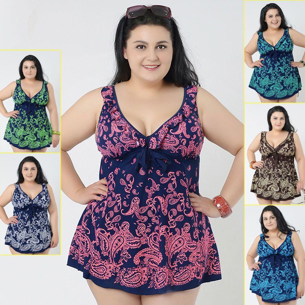 7f4ea4de651db New Ladies Swimwear Two Piece Swimdress Tankini AU Size 20 22 24 26 28 30   5315