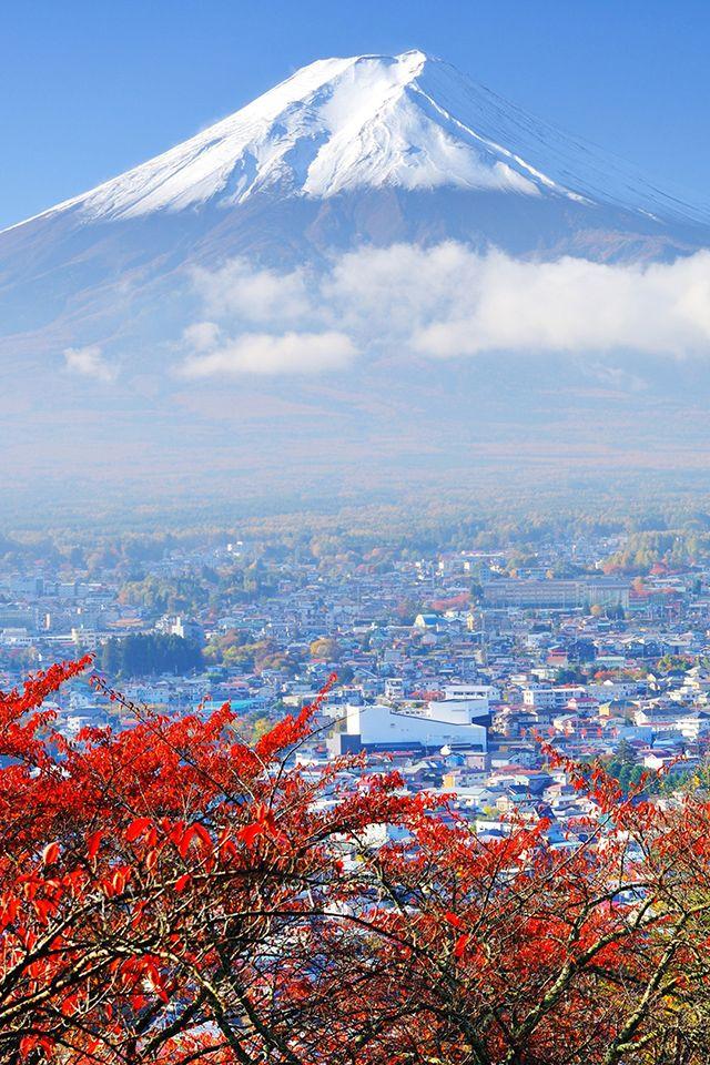 Japan Mount Fuji Wallpaper Mtfuji Japan Travel Iphone Wallpaper Pemandangan Gunung Fuji Seni
