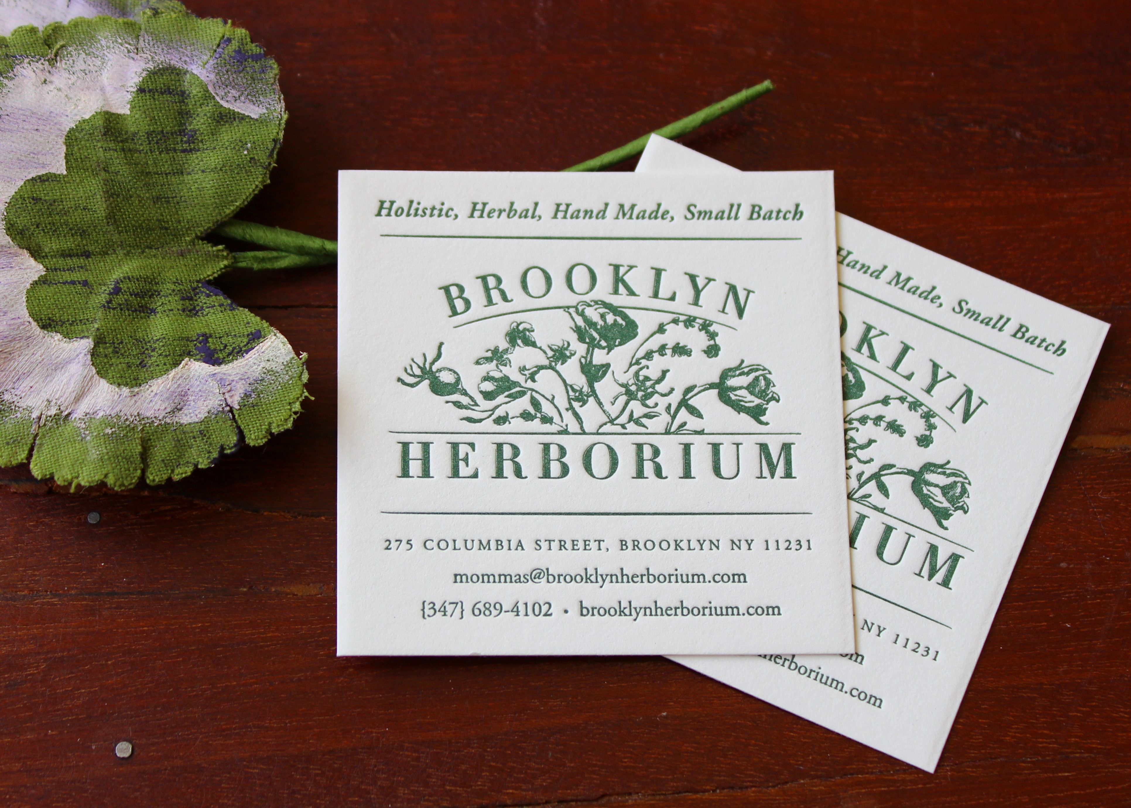 Brooklyn Herborium business cards. We love how the logo and color ...