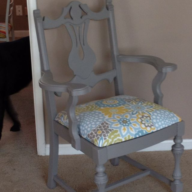 Best Refurbished Chair Painted And Upholstered Easy Cheap 400 x 300