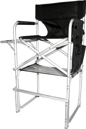 tall folding chairs directors egg chair garden furniture stylish camping ch1310 director with full back heavy duty organizer pouch and side table built in cupholder by ming s