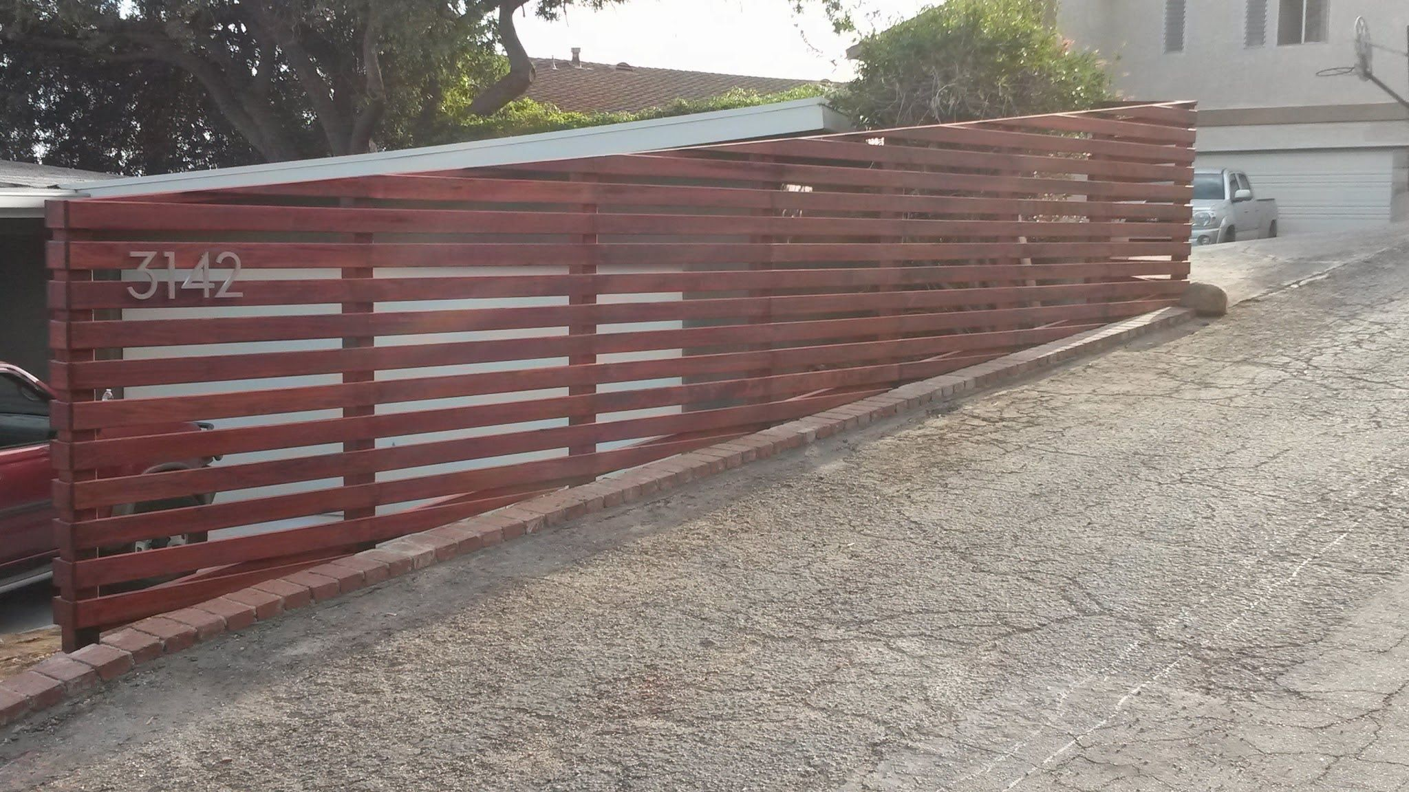 modern horizontal wooden fence panels google search