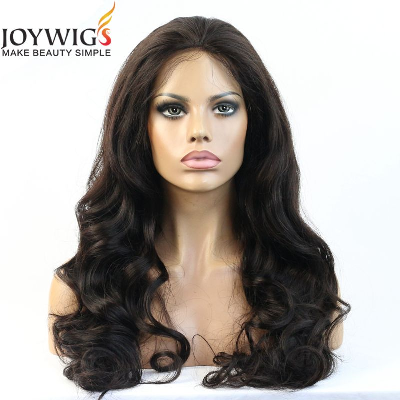 super wave 1B black color human hair lace wig whatsapp