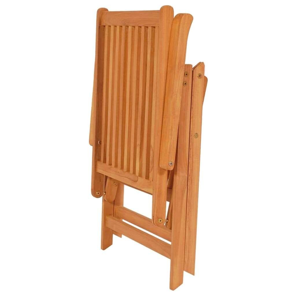 Reclining Garden Chairs 8 pcs Solid Teak Wood