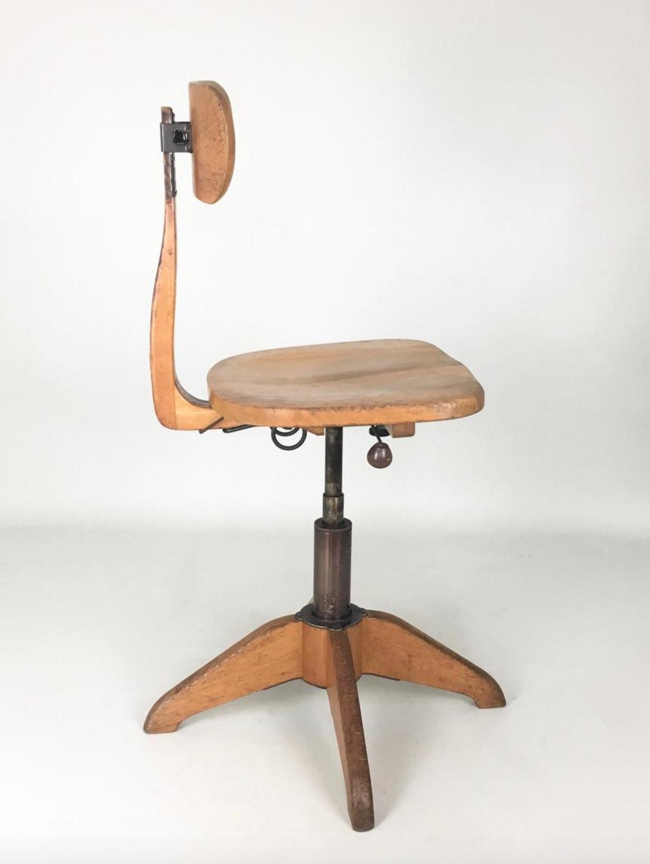 Office Chair Industrial Giroflex Stoll 1930 Chaise De Bureau Vintage Fauteuil Bureau Design Meuble De Style