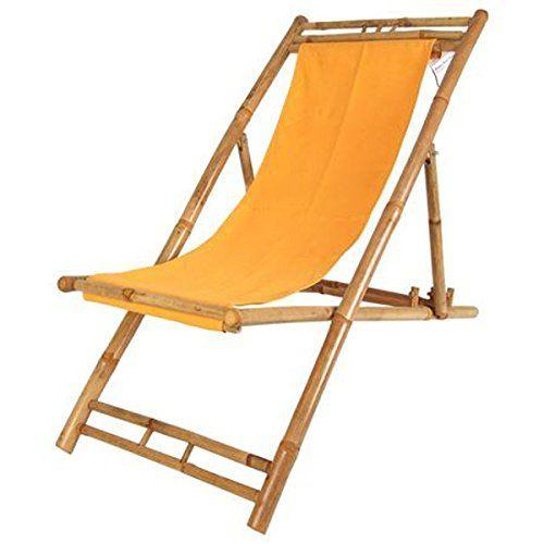 4X Bambusliege Terrakotta Liegestuhl Relax Bamboo Liege Strandliege ...