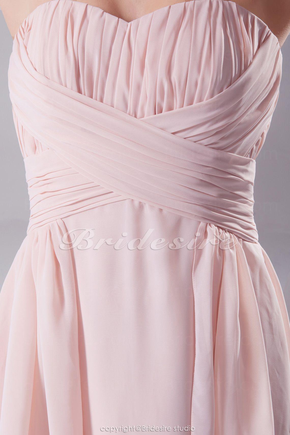 Bridesire - A-Linie Herz-Ausschnitt Asymmetrisch Knielang ärmellos Chiffon  Kleid  BD4159  - €83.56   Bridesire 04e830130a