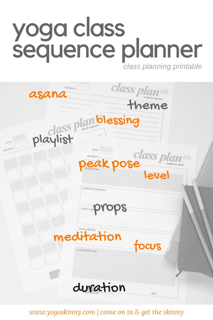Yin Yoga Sequence Template
