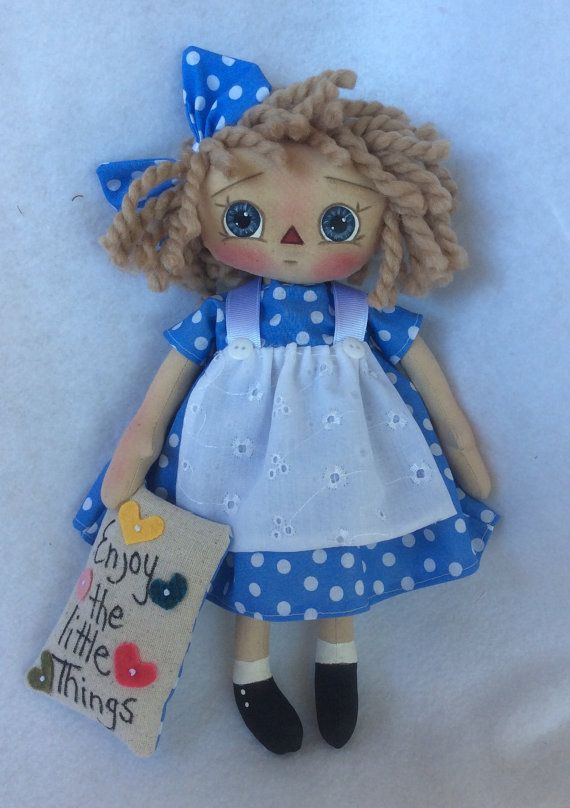 Primitive Raggedy Doll di Allisbright su Etsy