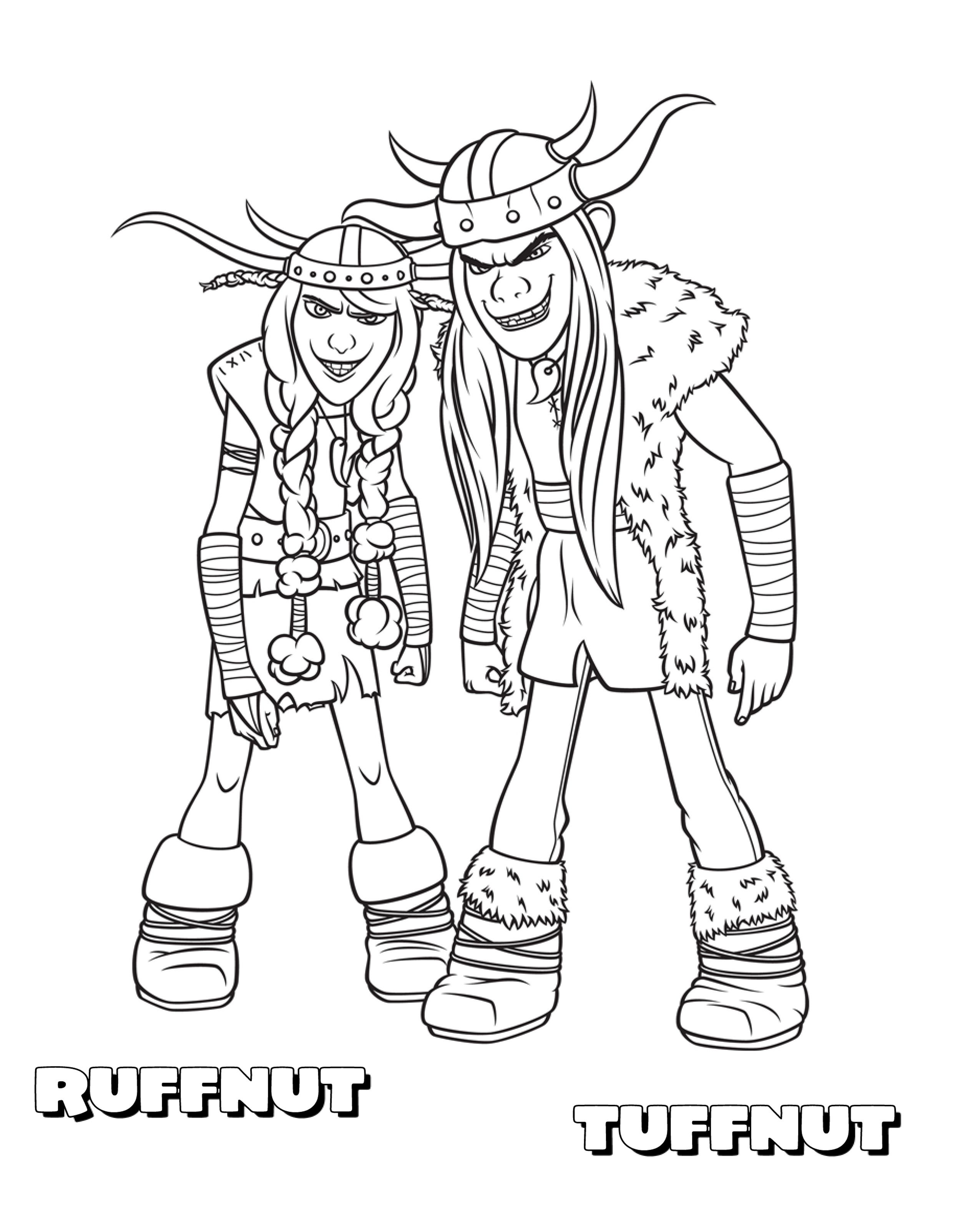Ruffnut Tuffnut Jpg 2550 3180 How To Train Your Dragon Coloring Pages Book Dragon