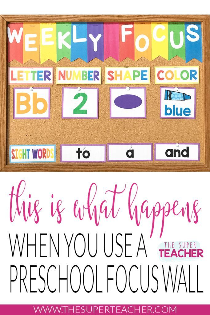 Preschool Focus Wall - This is What Happens When You Use One
