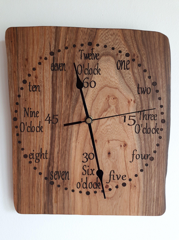 Irish clock wooden clock unique clock wall clock