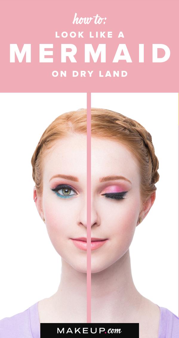 Mermaid-inspired makeup that looks great IRL? Yes please! This super simple eye…