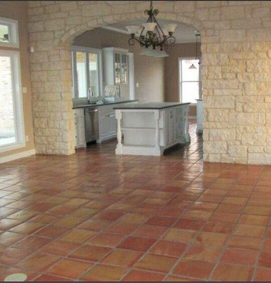 Saltillo tile floor Kitchens I Love Pinterest Loseta, Barro