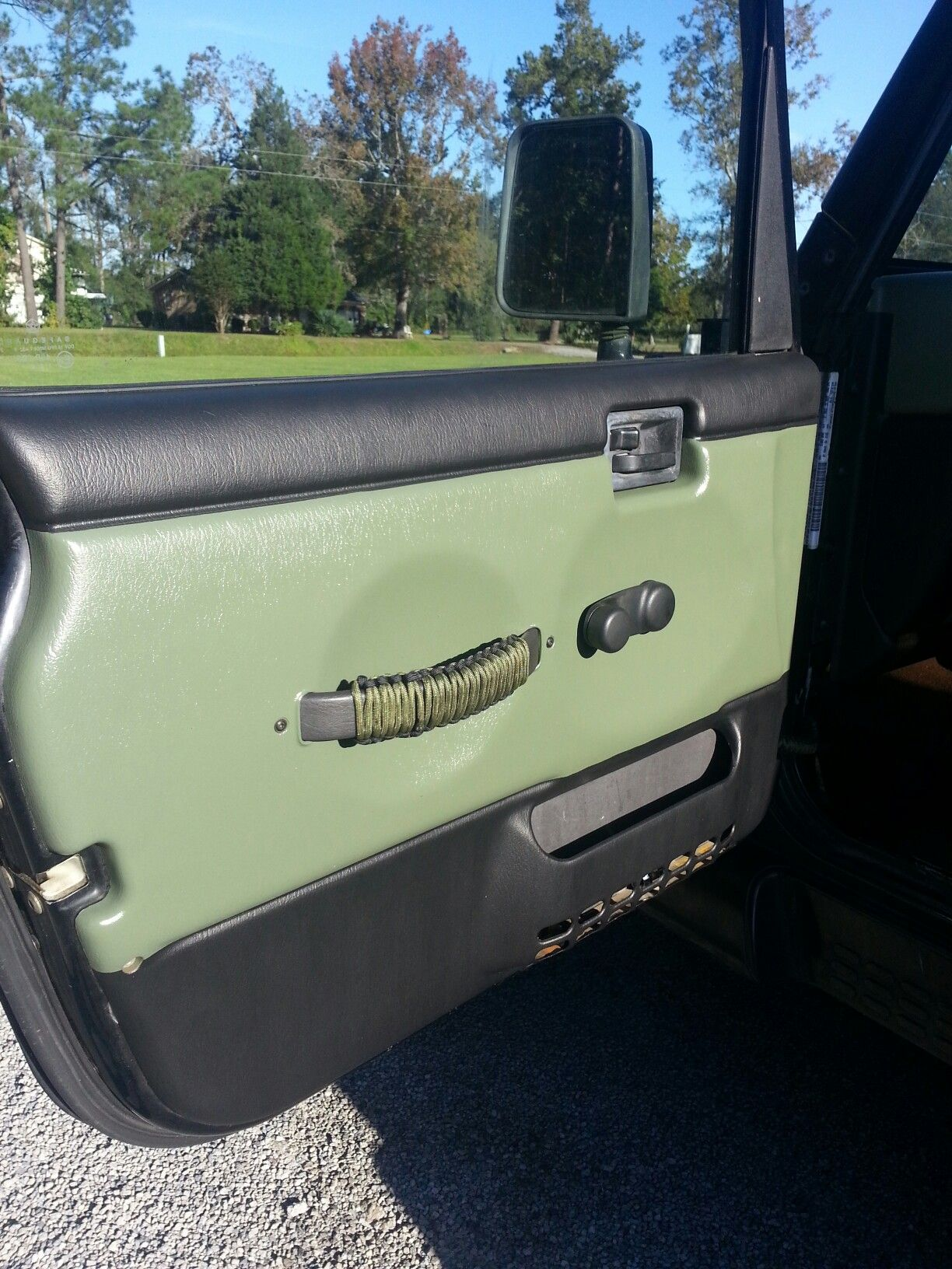 Drivers Side Painted Door Panel On My 2000 Tj Jeep Tj Jeep Mods