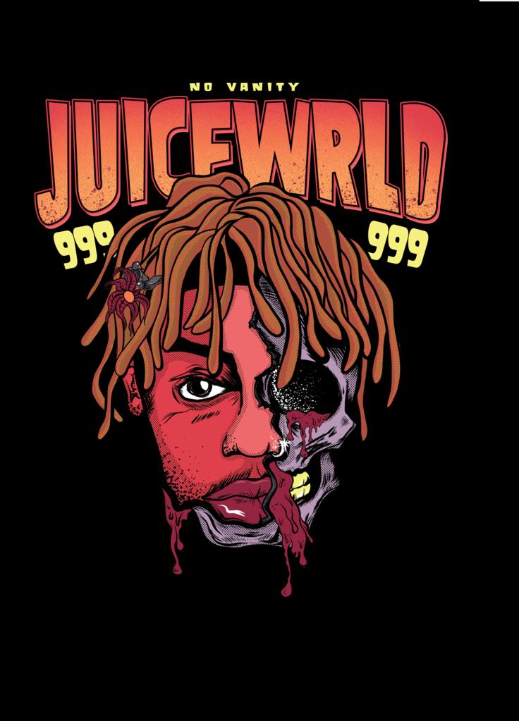 Juice wrld skull poster in 2019 | Miles Room | Rapper ...