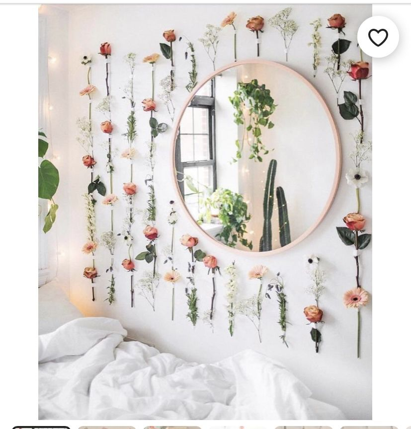 Hanging Flower Wall Decor Aesthetic Flower And Succulent Vase Glass Vases Room Decoration With Flowers In 2021 College Dorm Decorations College Decor Cute Room Decor