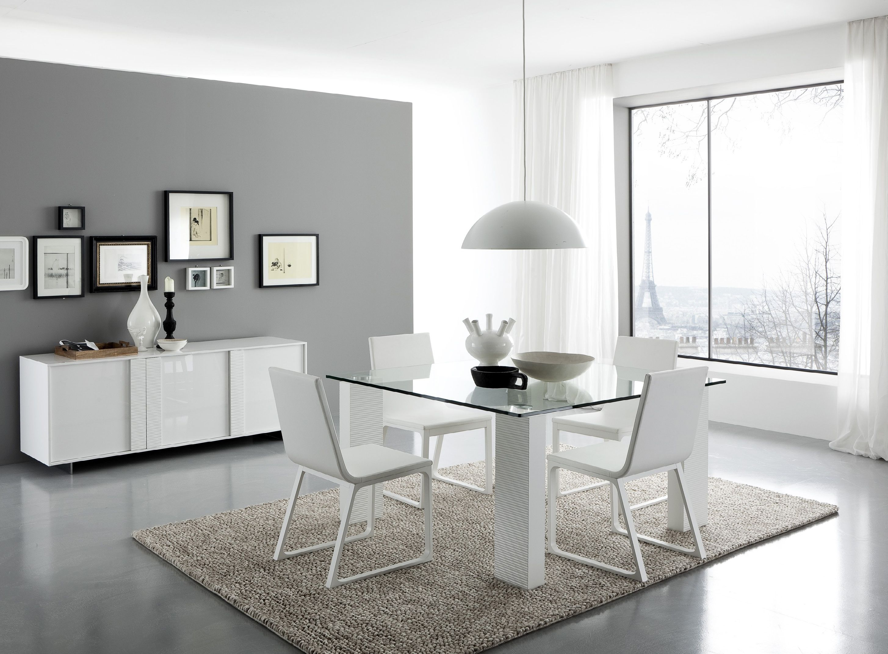 White Dining Room Decor Italian Dining Room Furniture Sets With Beautiful  Lighting And Table Lamp Gloss