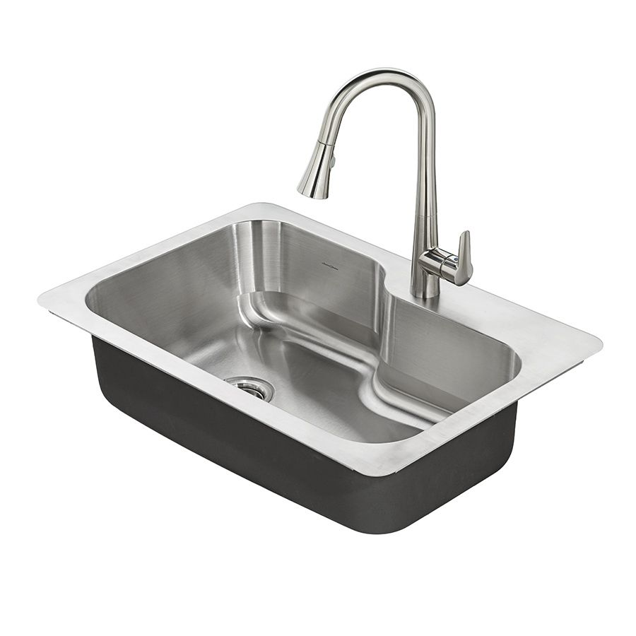 single stainless steel kitchen sink american standard raleigh 33 in x 22 in stainless steel 7965