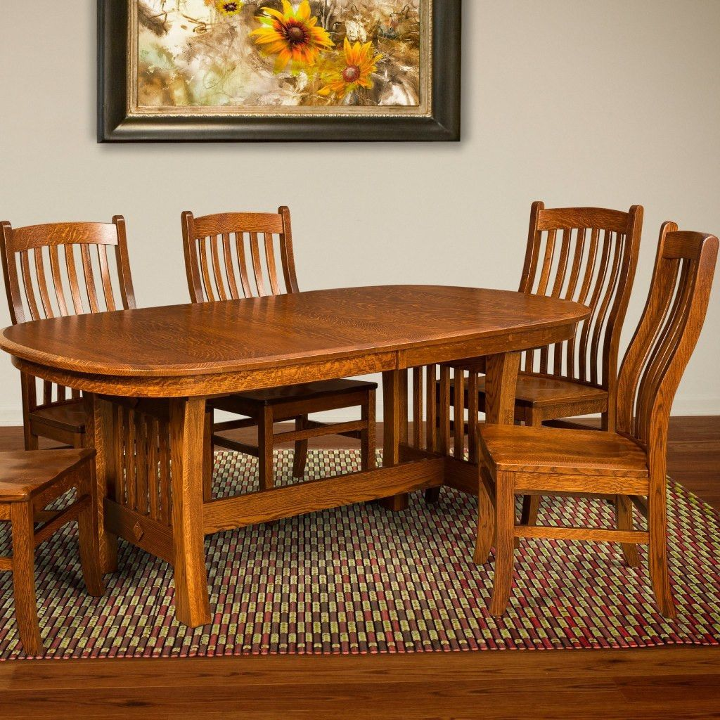 Arts And Crafts Trestle Extension Table Amish Tables 2