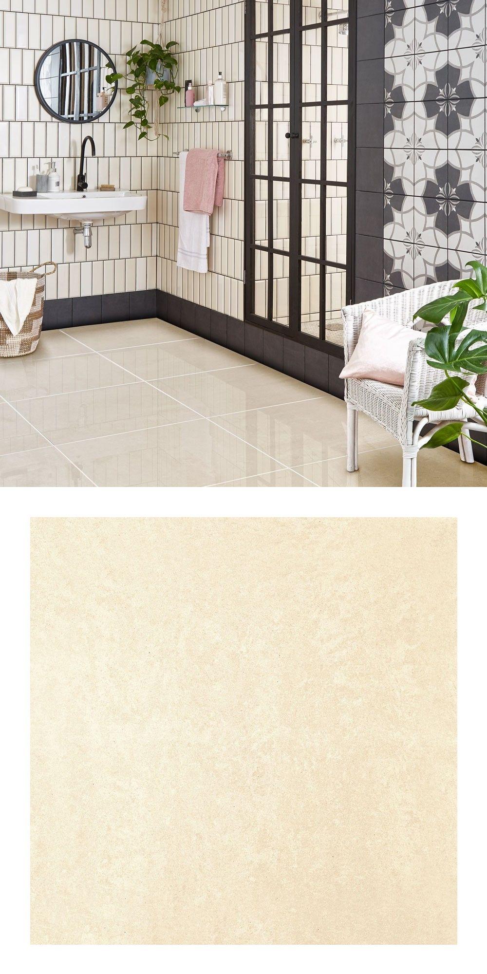 Salon Porcelain White Polished 600x600 Tiles White Tile Floor