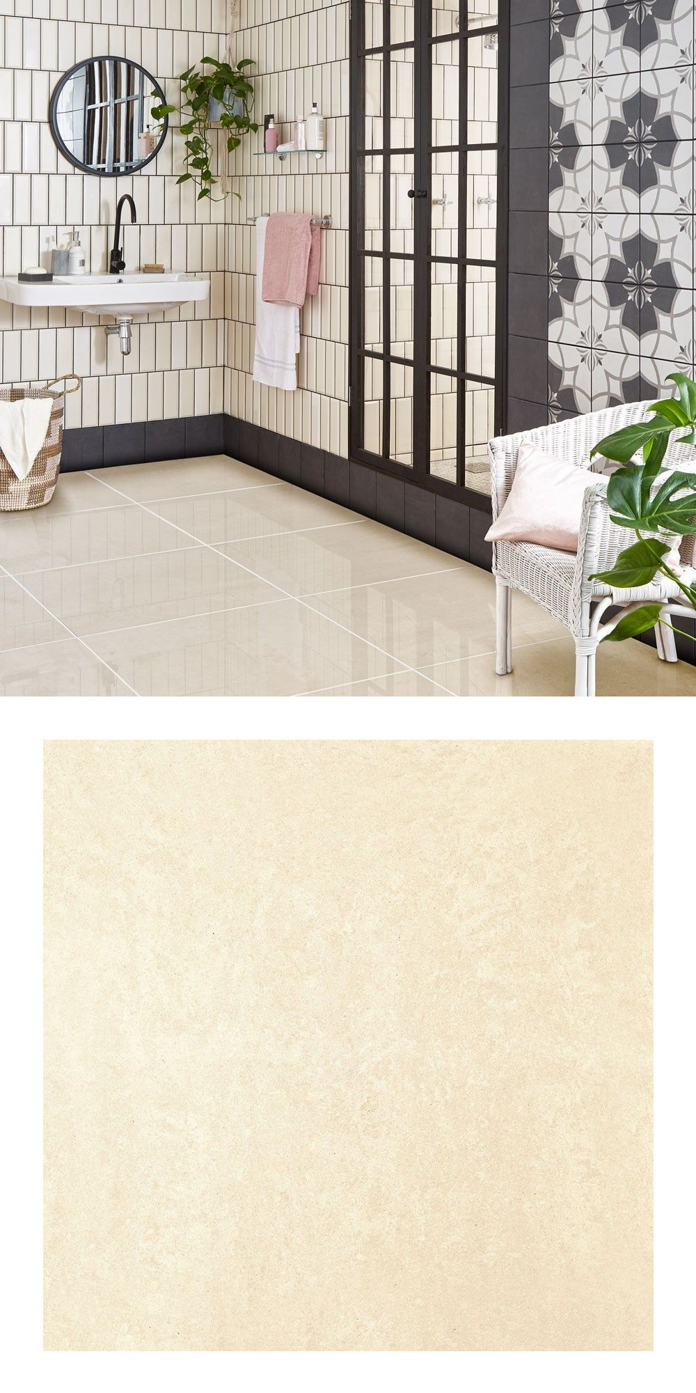 Salon Porcelain White Polished 600x600 Tiles White Tile Floor White Tiles House Tiles #porcelain #tiles #living #room