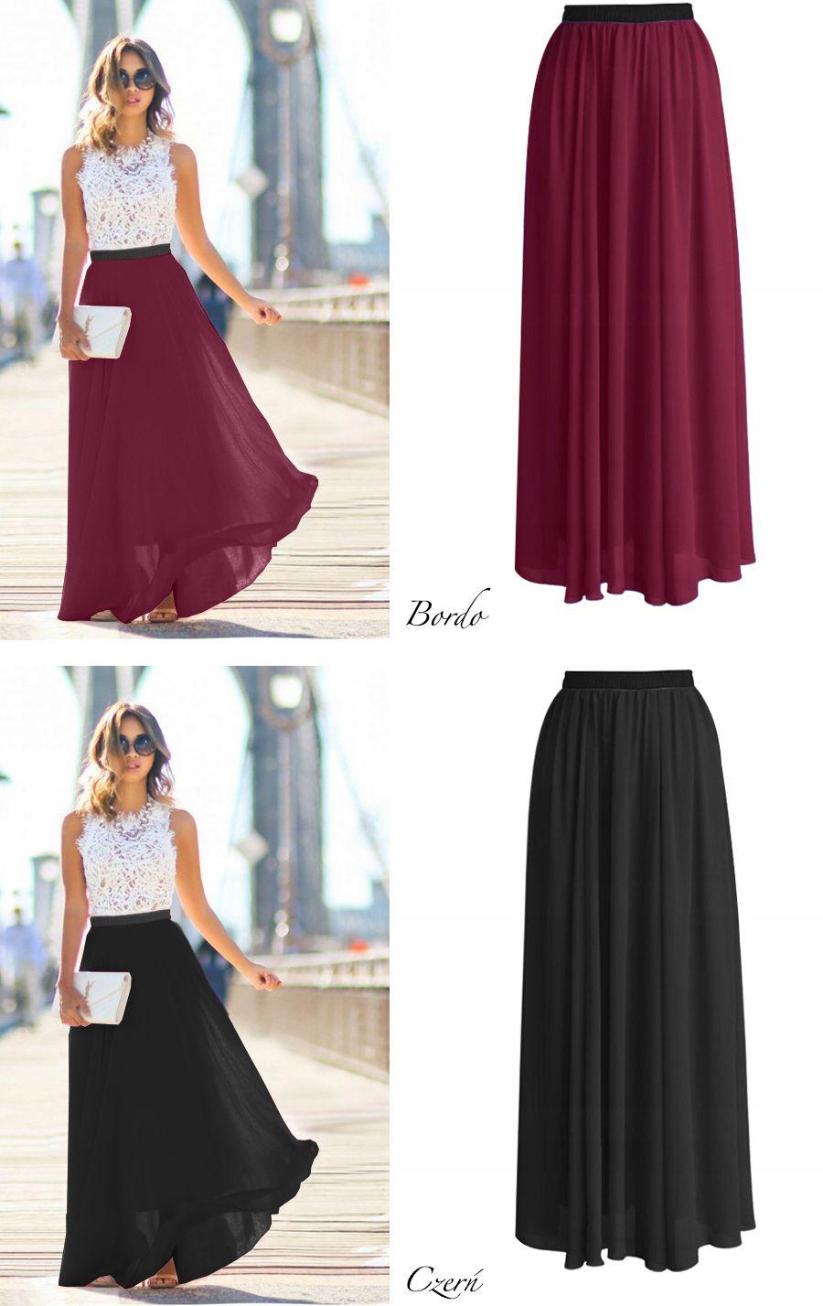 Szyfonowa Spodnica Maxi Dluga Guma 8003491976 Allegro Pl Fashion High Low Dress Dresses