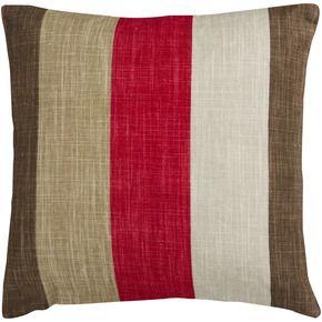 Red Brown Tan Beige Throw Pillow 80 Viscose 20 Cotton