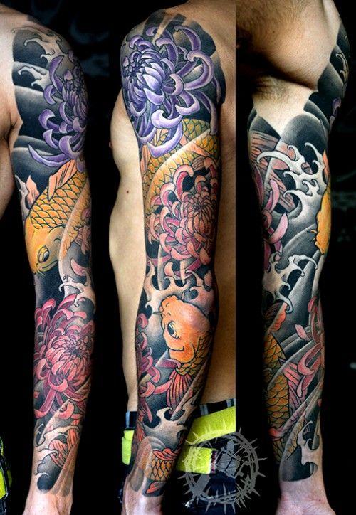Japanese Koi Sleeve Tattoo Ideas Sleeve Tattoos