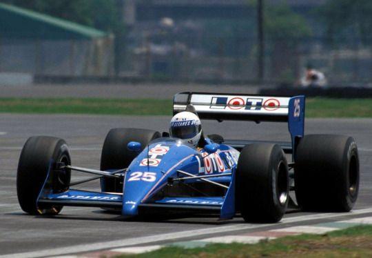 Rene Arnoux, Ligier-Judd JS31, 1988 Mexican GP, Mexico City