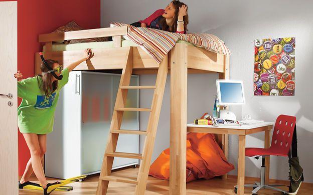 hochbett selber bauen m bel holz pinterest computertisch hochbetten und vorteile. Black Bedroom Furniture Sets. Home Design Ideas
