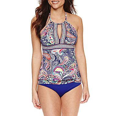 5d61be6e470 Buy Liz Claiborne Paisley Tankini Swimsuit Top at JCPenney.com today and  enjoy great savings.