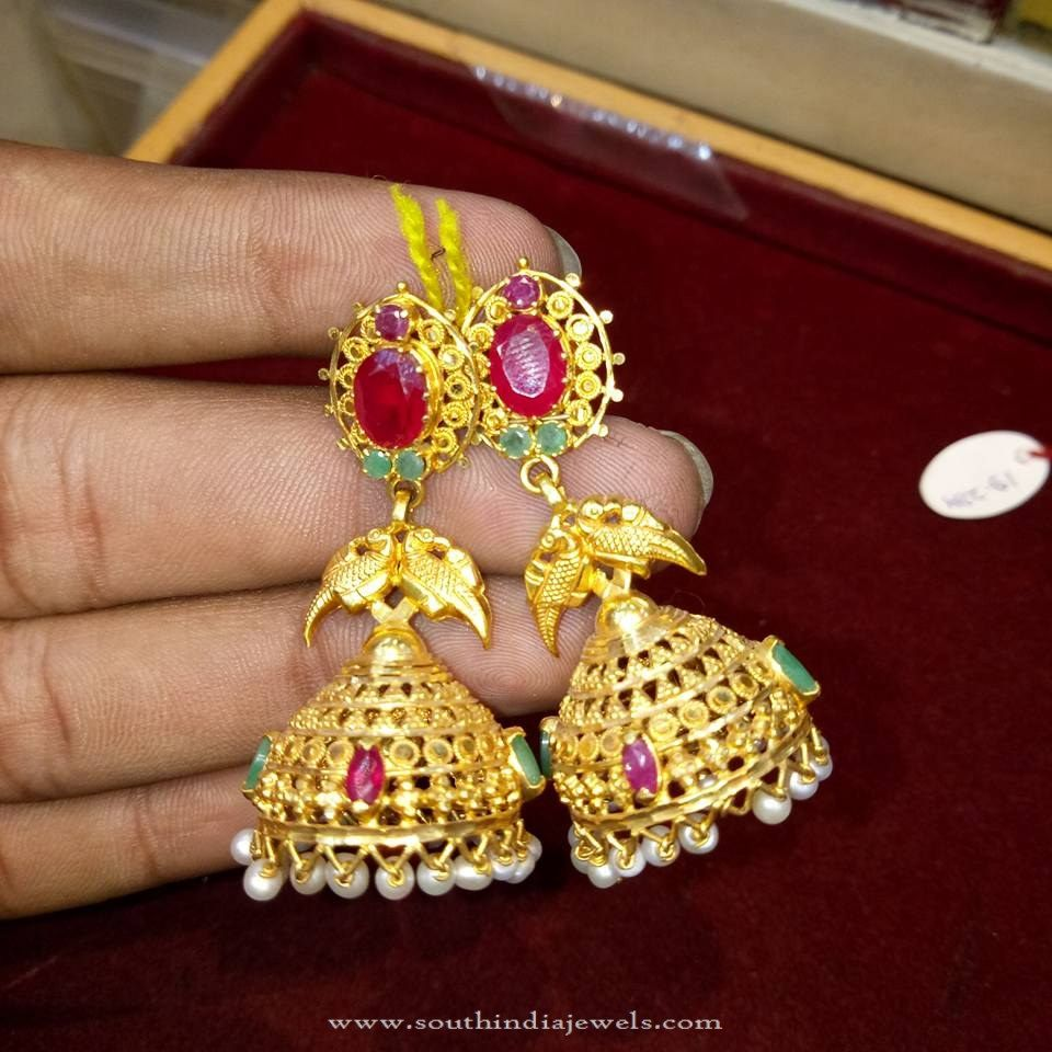 Gold Light Weight Jhumka Model | Models, Gold and Lights