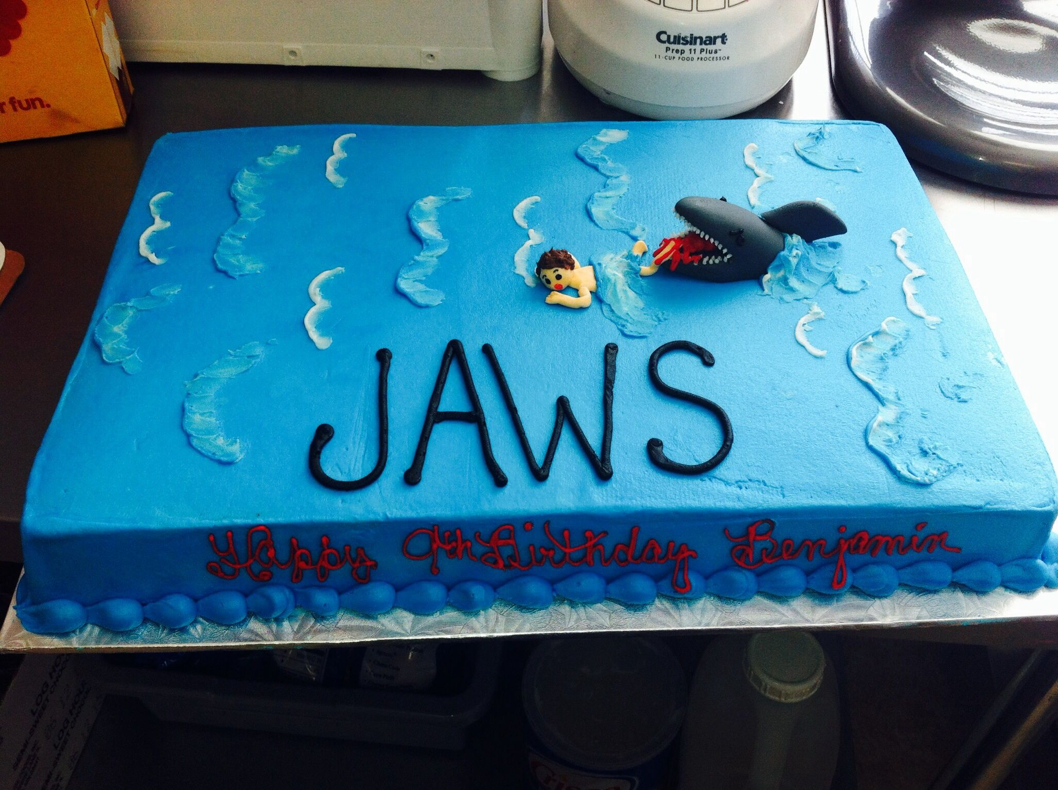 Jaws Birthday Cake Custom Cakes Pinterest Birthday Cakes And