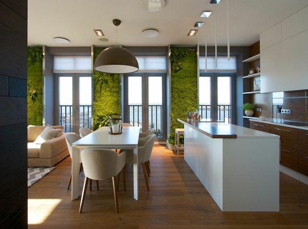 Wohnideen Apartment moderne wohnideen richtig beleuchteter vertikaler garten zu hause