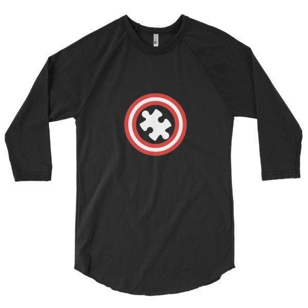 Autism Awareness Autism Superhero Gift 3/4 sleeve raglan shirt