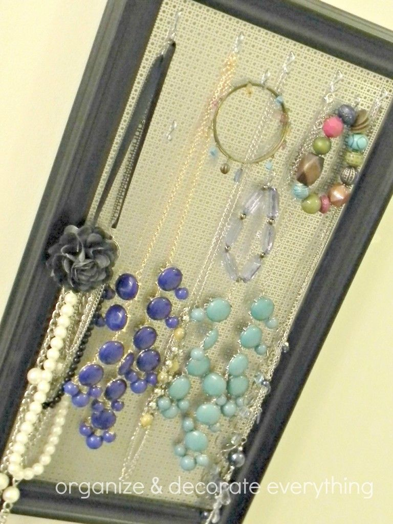 Hanging Jewelry Organizer Organize and Decorate Everything DIY