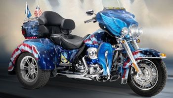 Patriotic And Flag Themed Custom Paint And Murals Harley Davidson Trike Harley Davidson Custom Paint Motorcycle