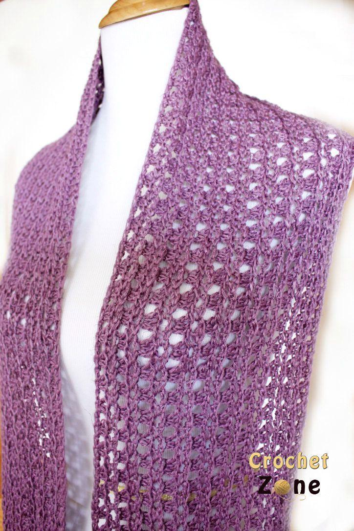 Free Crochet Pattern Eve Scarf by Crochet Zone   gorros-bufandas ...