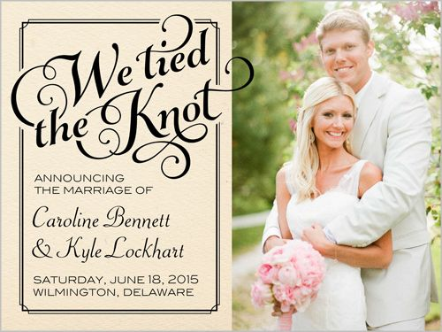 Classy Frame 4x5 Wedding Announcements Shutterfly Elopement Announcement Wedding Announcements Marriage Announcement