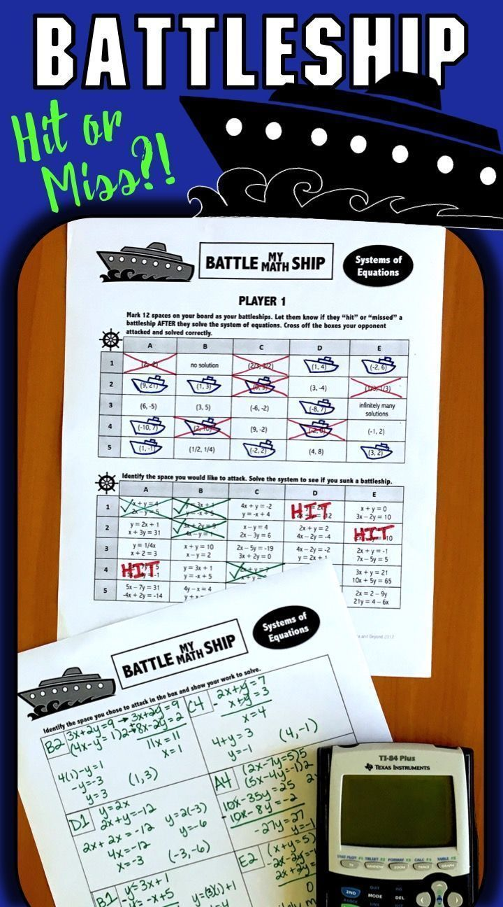 Students use their math skills to play battleship. Engaging, fun ...
